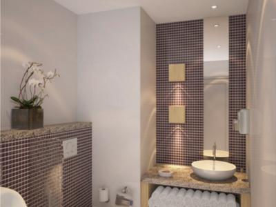 (2) Hotel Designer Dubai – Holiday Inn Powder Room – From CeciliaClasonInteriors.com