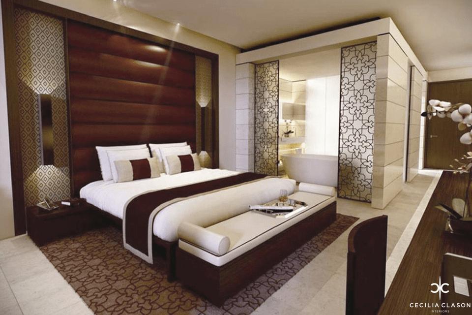 (2) Interior Designers For Hotels Dubai – Kempinski Hotel Guest Room – From CeciliaClasonInteriors.com