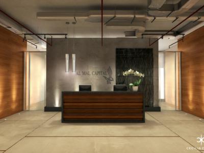 (1) Office Interior Designers Dubai – Reception Al Mal – From CeciliaClasonInteriors.com