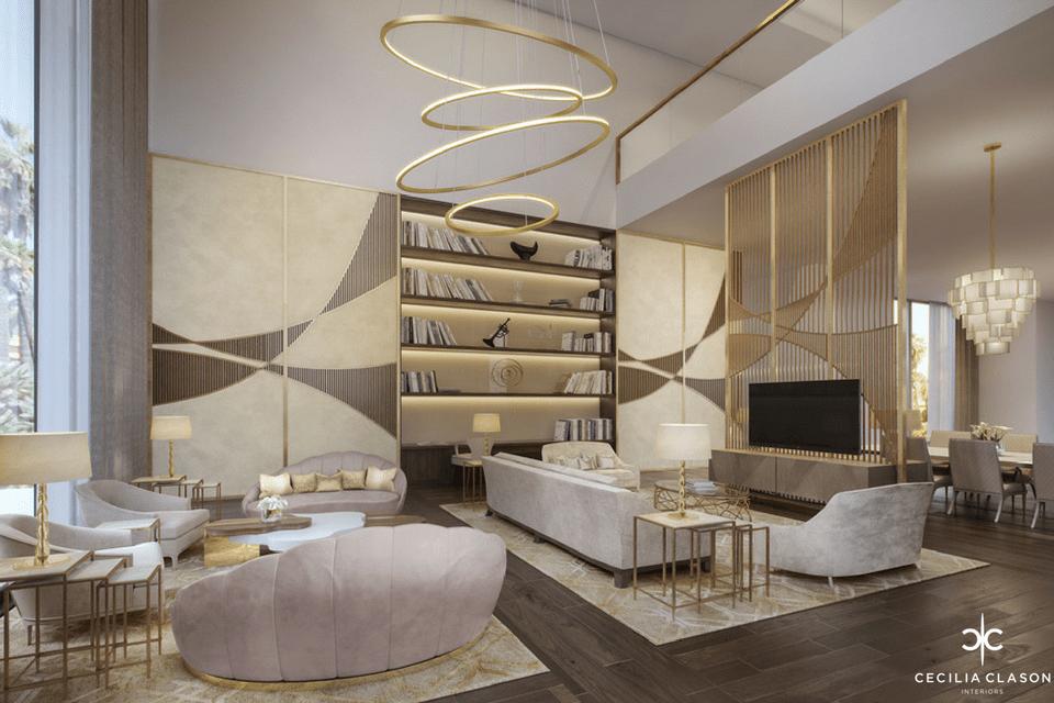. 2  Palace Interior Design Firms Dubai   Family Living   Dining Al