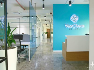 (1) Office Interior Designers Dubai – Veechem Offices Reception – From CeciliaClasonInteriors.com