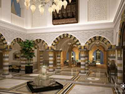 (1) Residential Interior Designer Dubai – Grand Hall Emirates Hills – From CeciliaClasonInteriors.com