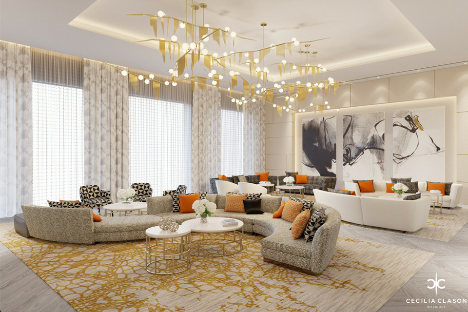 (10) Residential Interior Designer Dubai - Family Lounge Abs Palace - From CeciliaClasonInteriors.com