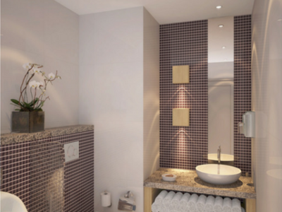 (2) Hotel Designer Dubai – Holiday Inn Powder Room – From CeciliaClasonInteriors.com