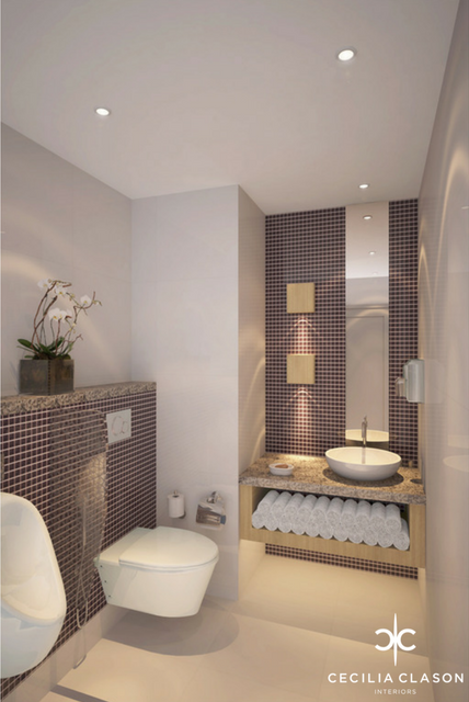 (2) Hotel Designer Dubai - Holiday Inn Powder Room - From CeciliaClasonInteriors.com