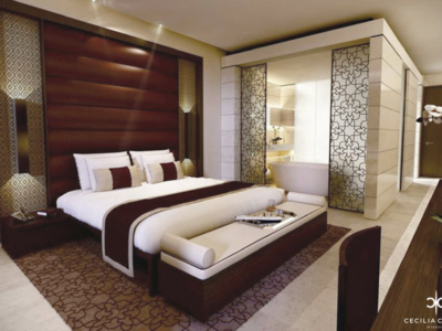 (2) Interior Designers For Hotels Dubai – Kempinski Hotel Guest Room – From CeciliaClasonInteriors.com