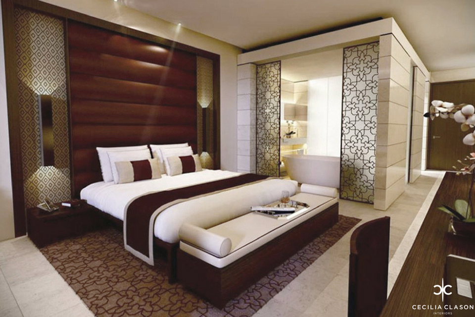 (2) Interior Designers For Hotels Dubai - Kempinski Hotel Guest Room - From CeciliaClasonInteriors.com