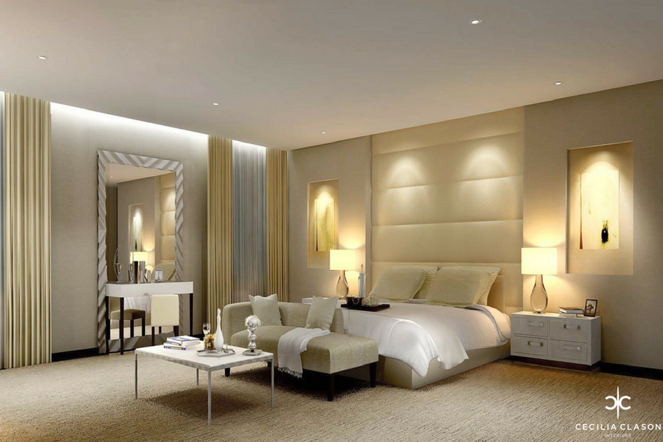(2) Residential Interior Design Firms Dubai - Kapsarc Villa Bedroom 1 - From CeciliaClasonInteriors.com