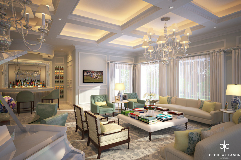 (4) Residential Interior Design Firms Dubai - Formal Majlis Emirates Hills - From CeciliaClasonInteriors.com