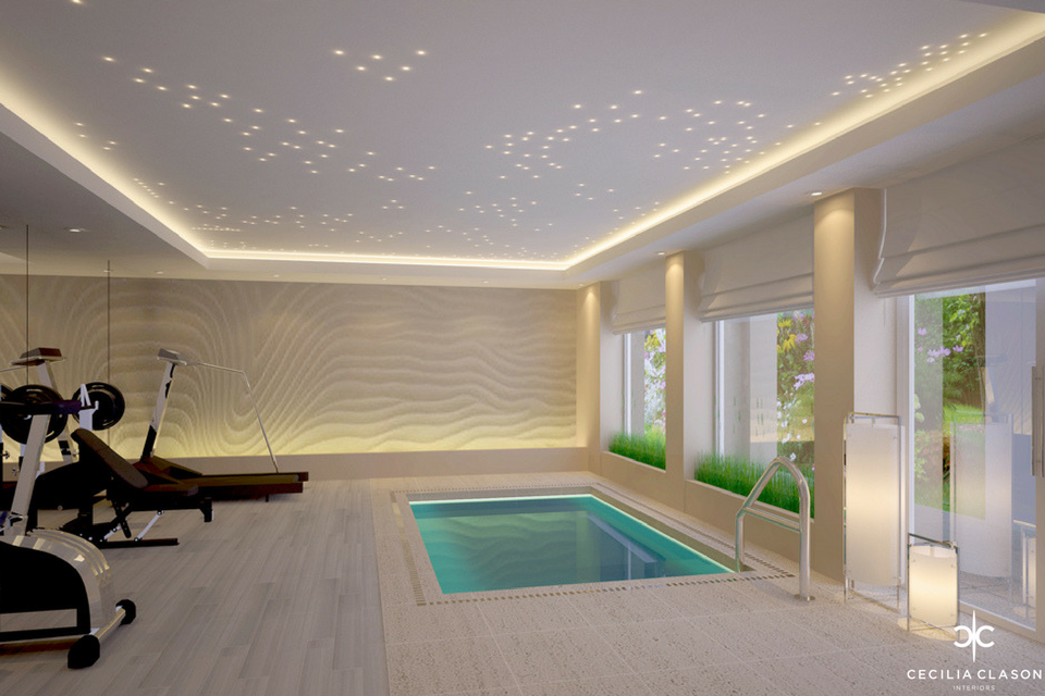 (5) Residential Interior Design Firms Dubai – Swimming Pool Emirates Hills – From CeciliaClasonInteriors.com
