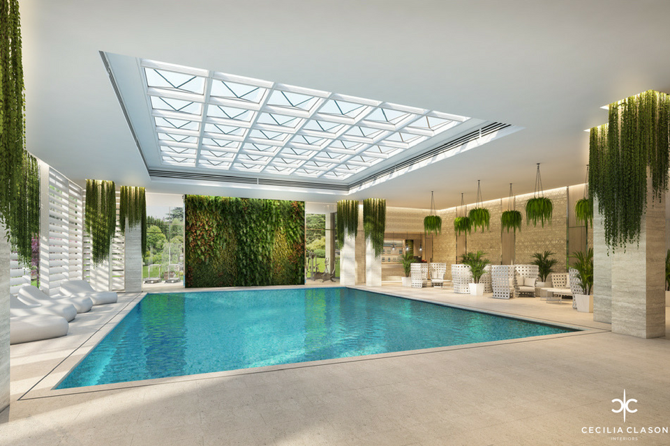 (5) Top Residential Interior Designers Dubai - Indoor Pool Abs Palace - From CeciliaClasonInteriors.com