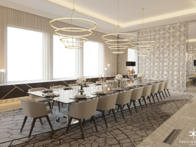 (6) Residential Interior Design Firms in Dubai – Family Dining Abs Palace – From CeciliaClasonInteriors.com