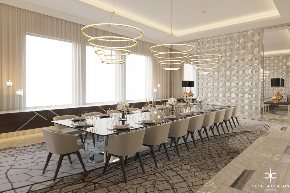 (6) Residential Interior Design Firms in Dubai - Family Dining Abs Palace - From CeciliaClasonInteriors.com