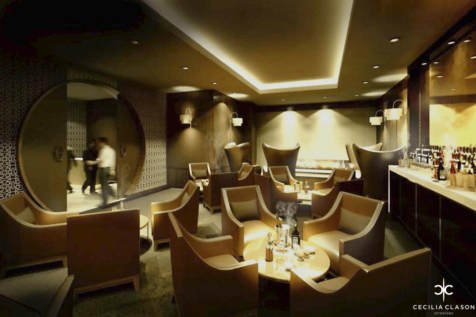 Hotel Designer Dubai – Kempinski Hotel Cigar Lounge – From CeciliaClasonInteriors.com