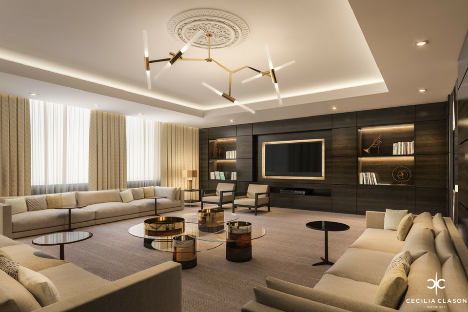 Living room interior design portfolio for Residential interior designing services