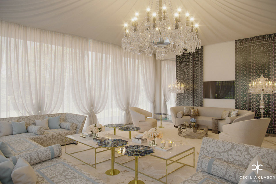 Luxury House Design Company Dubai - Majlis Abs Palace - From CeciliaClasonInteriors.com