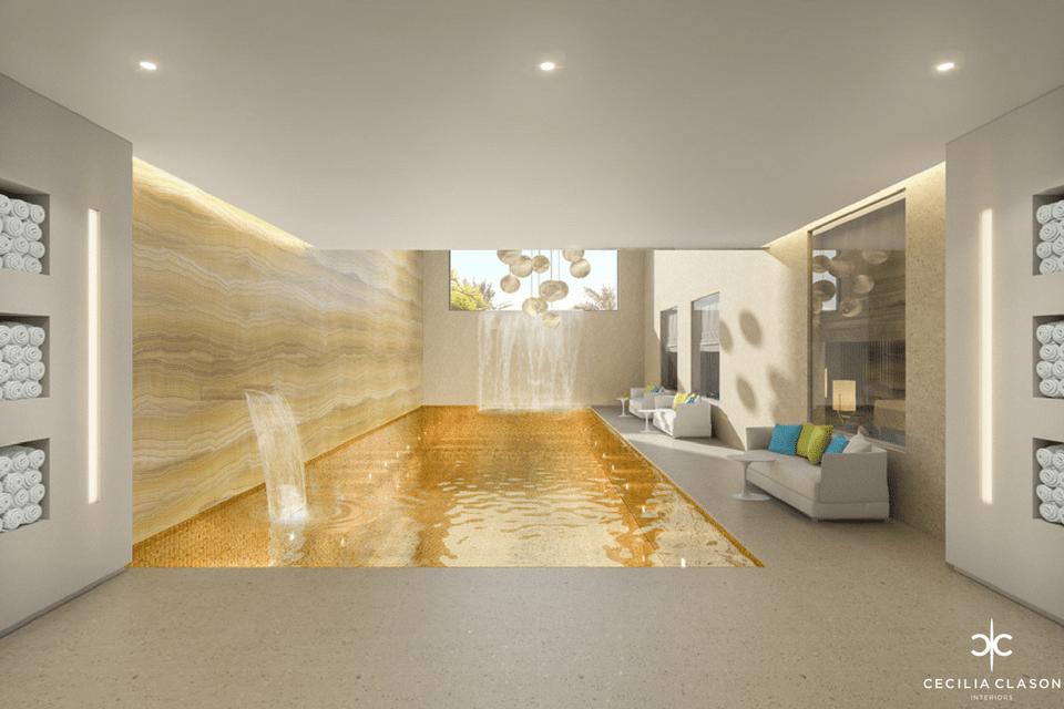 Luxury House Design Company in Dubai – Pool Area Abs Palace – From CeciliaClasonInteriors.com