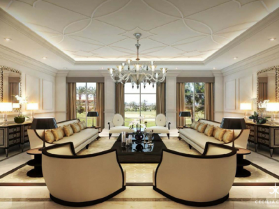 Residential Interior Design Companies Dubai – Damac Living Room – From CeciliaClasonInteriors.com