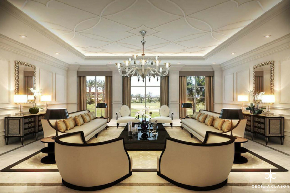 Residential Interior Design Companies Dubai - Damac Living Room - From CeciliaClasonInteriors.com