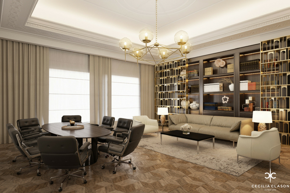 Residential Interior Design Companies Dubai - Private Office Abs Palace - From CeciliaClasonInteriors.com
