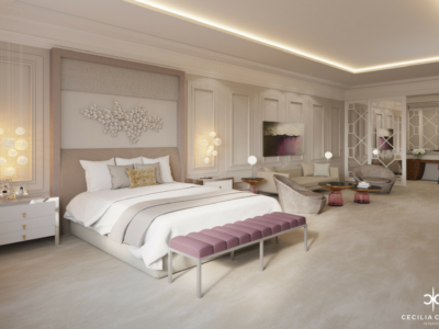 Residential Interior Design Firms Dubai – Princess Bedroom Abs Palace – From CeciliaClasonInteriors.com