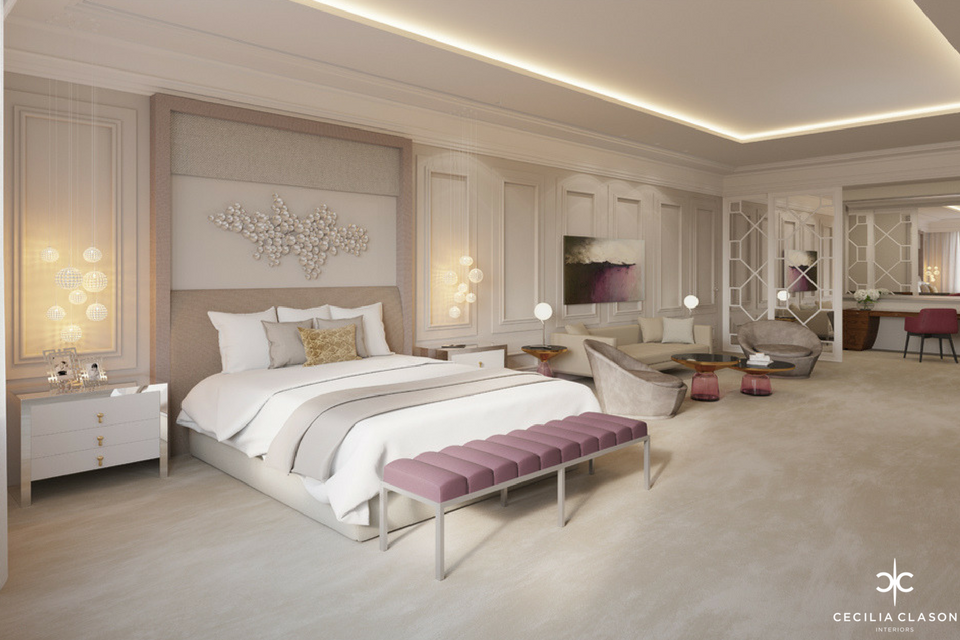 Residential Interior Design Firms Dubai - Princess Bedroom Abs Palace - From CeciliaClasonInteriors.com