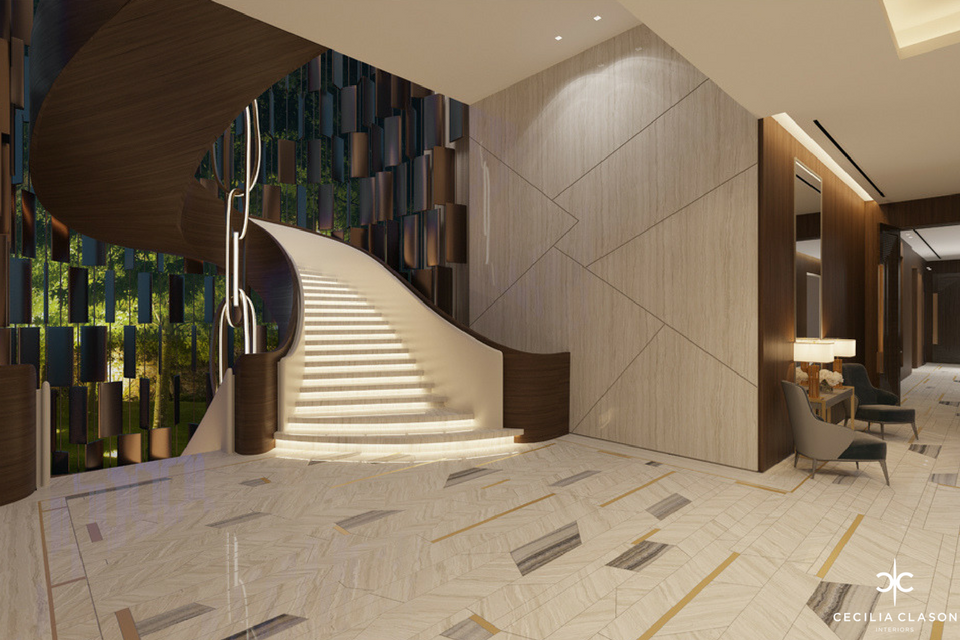 Residential Interior Design Firms Dubai - Staircase Abs Palace - From CeciliaClasonInteriors.com