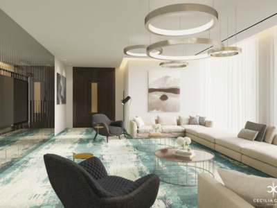 Residential Interior Design Services in Dubai – Guest Lounge Abs Palace – From CeciliaClasonInteriors.com