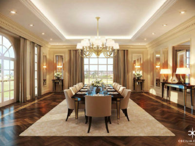 Residential Interior Designer Dubai – Damac Dining Room – From CeciliaClasonInteriors.com