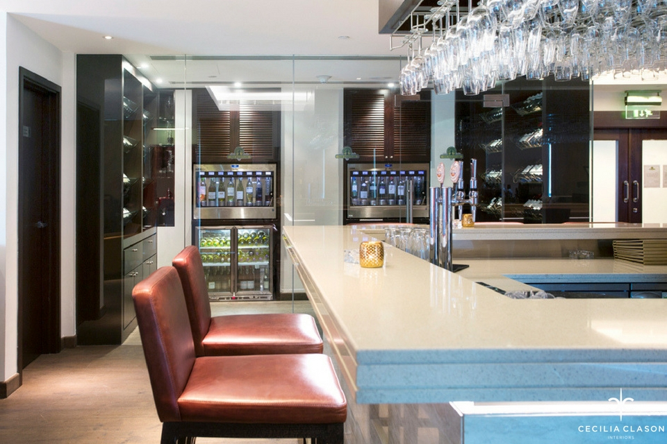 (2) Hospitality Design Firms Dubai - Ocean View Hotel Wine Bar - From CeciliaClasonInteriors.com