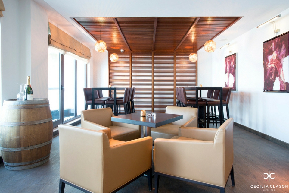Ocean view hotel wine bar dubai Kitchen design consultants dubai