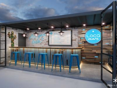 Restaurant Interior Designer Dubai – Loca Mare – From CeciliaClasonInteriors.com