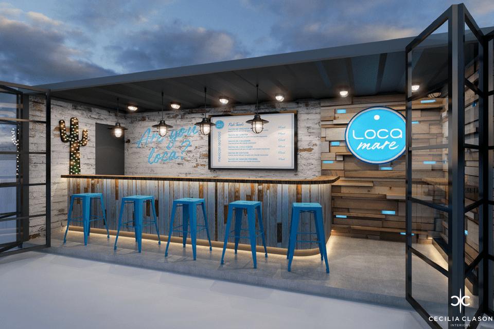 Restaurant Interior Designer Dubai - Loca Mare - From CeciliaClasonInteriors.com
