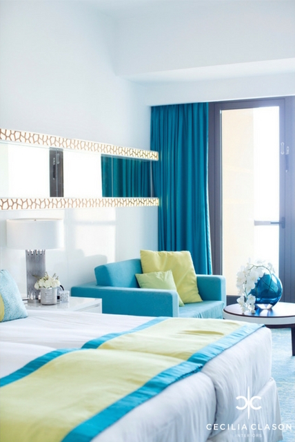 (1) Hotel Interior Design Companies Dubai - Ocean View Hotel Guest Rooms - From CeciliaClasonInteriors.com