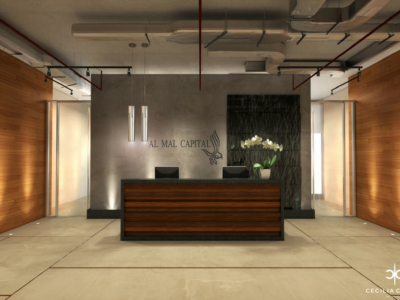 Office Interior Designers Dubai – Reception Al Mal – From CeciliaClasonInteriors.com