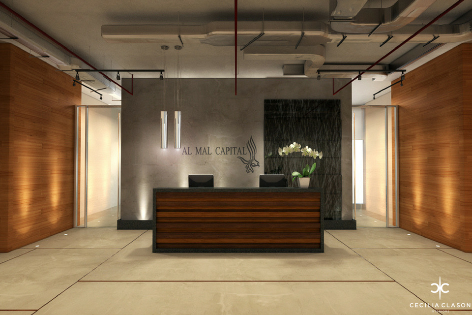 Office Interior Designers Dubai - Reception Al Mal - From CeciliaClasonInteriors.com
