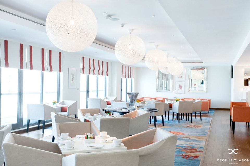 (4) Professional Interior Designer Dubai - Ocean View Hotel Executive Coral Lounge - From CeciliaClasonInteriors.com
