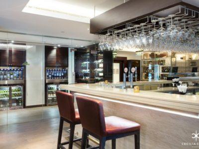 Hospitality Designers Dubai – Ocean View Hotel Wine Bar – From CeciliaClasonInteriors.com