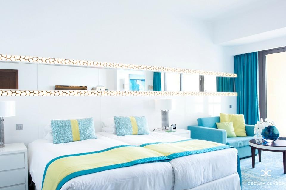 Hotel Interior Designers Dubai - Ocean View Hotel Guest Rooms - From CeciliaClasonInteriors.com