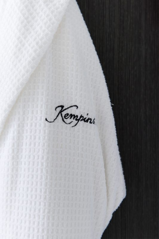 Photo of a Kempins branded bathrobe