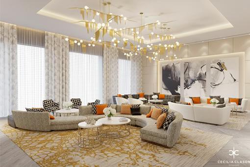 Residential Interior Designer Dubai - Family Lounge Abs Palace - From CeciliaClasonInteriors.com
