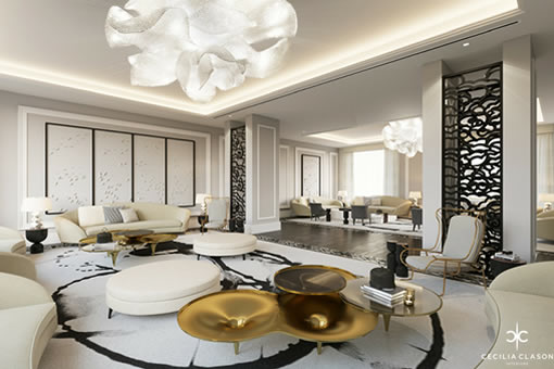 Luxury Residential Interior Design Firms Dubai - Lounge Abs Palace - From CeciliaClasonInteriors.com