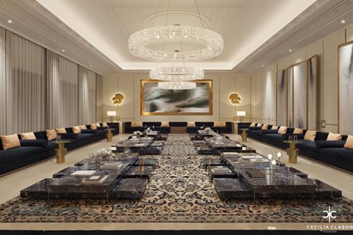 Residential Interior Design Services Dubai - Majlis Abs Palace - From CeciliaClasonInteriors.com