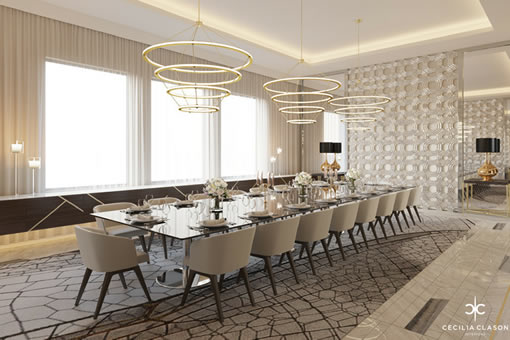 Residential Interior Design Firms in Dubai - Family Dining Abs Palace - From CeciliaClasonInteriors.com