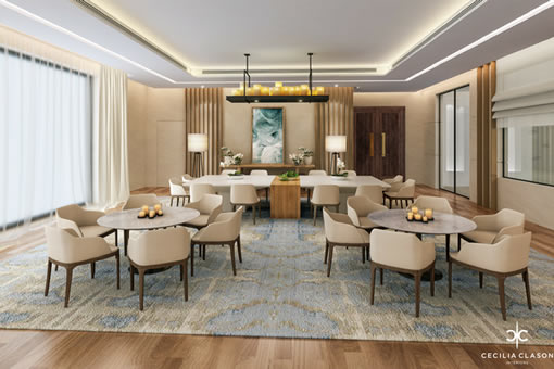 House Interior Designer Dubai Basement Dining Abs Palace From CeciliaClasonInteriors.com
